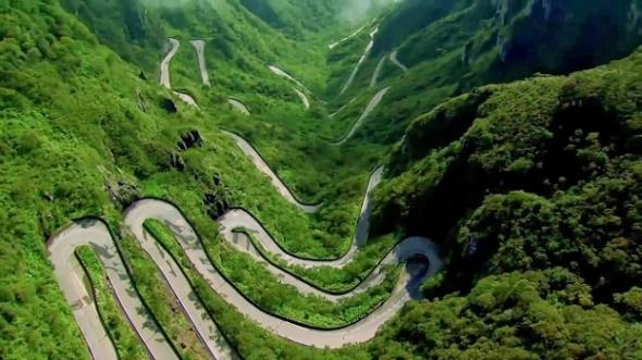 Uphill Windy Road